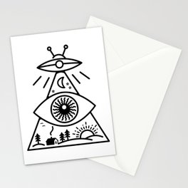 They Watch Us Stationery Cards