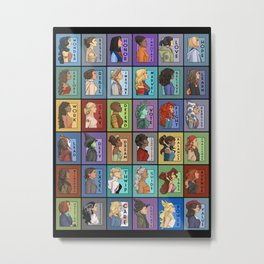 She Series Collage 1-4 Metal Print
