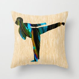 Martial Art Throw Pillow
