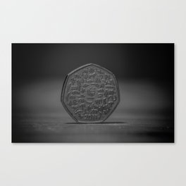 50Pence Canvas Print