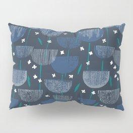 Botanical Block Print M+M Navy by Friztin Pillow Sham