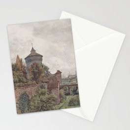 The Spittler In Nuremberg 1856 by Rudolf von Alt | Reproduction Stationery Cards