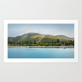 Kuto Bay Panorama on Isle of Pines, New Caledonia. Art Print