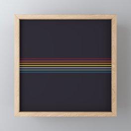Nagamasa - Classic Retro Stripes Framed Mini Art Print