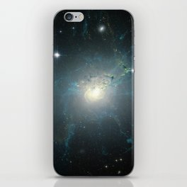 Dusty spiral galaxy iPhone Skin