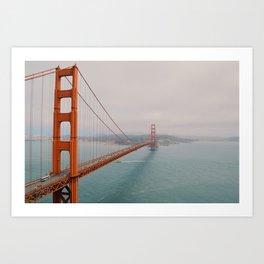 Golden Gate into San Fran. Art Print