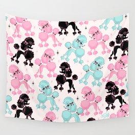 Poodlerama Retro Poodles Wall Tapestry