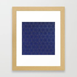 Hexagold Framed Art Print