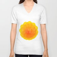fancy V-neck T-shirts featuring fancy by Helmo Studio