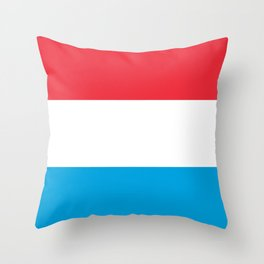 Flag: Luxembourg Throw Pillow