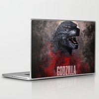 godzilla Laptop & iPad Skins featuring Godzilla by Denda Reloaded