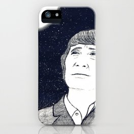 Man and Moon iPhone Case