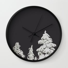 A Pacific Northwest Winter Night Wall Clock