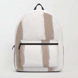 Medium Brush Strokes Vertical Nude on Off White Backpack
