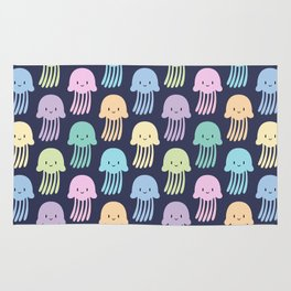 Cute colorful jellyfishes Rug