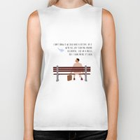 forrest Biker Tanks featuring Forrest Gump by Christina