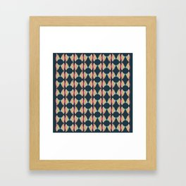 Oval and Diamond Sillouette Pattern Framed Art Print