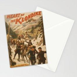 Vintage poster - Heart of the Klondike Stationery Cards