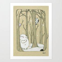 Original character Bostwick and Friends Hide and Seek Art Print