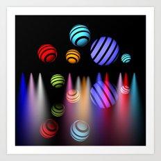 lightballs -1- Art Print