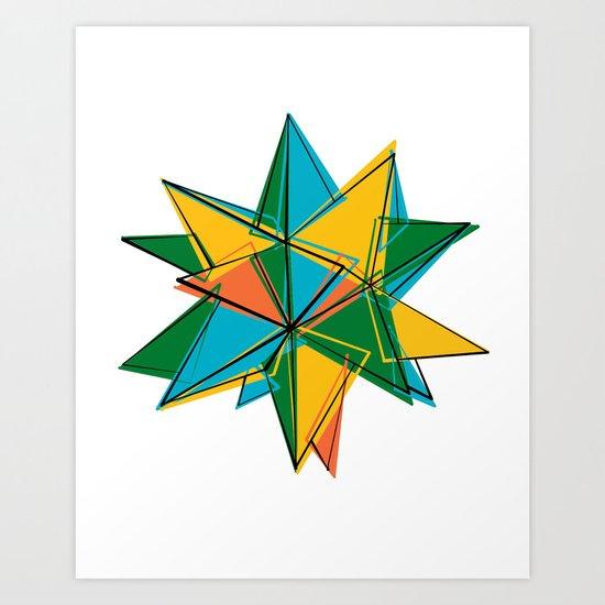 Abstract modern polygonal form Art Print