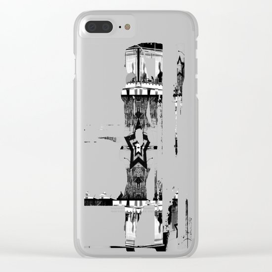 Masking The Inhuman Populace Clear iPhone Case