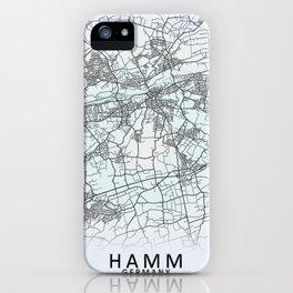 Hamm, Germany, White, City, Map iPhone Case