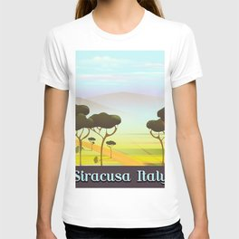 Siracusa Italy travel poster T-shirt