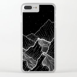 Sea mountains Clear iPhone Case