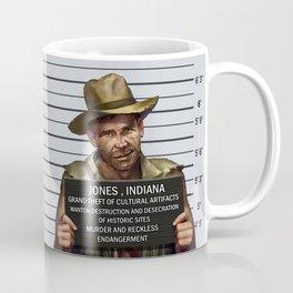 Indiana Jones Mugshot Coffee Mug