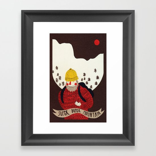 Super duper mountain Framed Art Print
