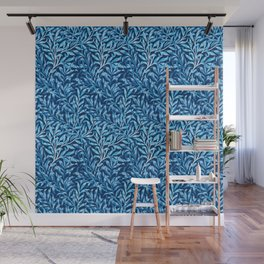 William Morris Willow Bough, Cobalt and Navy Blue Wall Mural