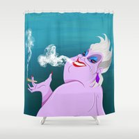 ursula Shower Curtains featuring Stoner Ursula by Fransisqo82