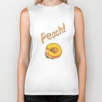peach Biker Tanks featuring Peach by Ken Coleman