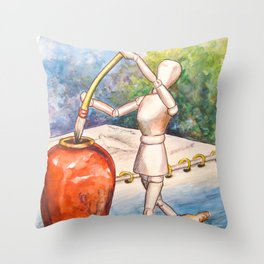 A Touch of Ink Throw Pillow