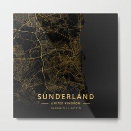 Sunderland, United Kingdom - Gold Metal Print
