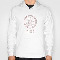 airbender Hoodies featuring Avatar Last Airbender Elements - Fire by bdubzgear