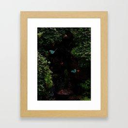 Cyan Butterflies Framed Art Print