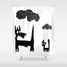 Raining Shower Curtains