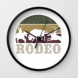 Rodeo Cowboy Team Roping Horse Riding  Wall Clock