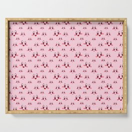 Gingham Puff Ball Serving Tray