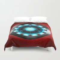iron man Duvet Covers featuring Iron Man Iron Man by ThreeBoys