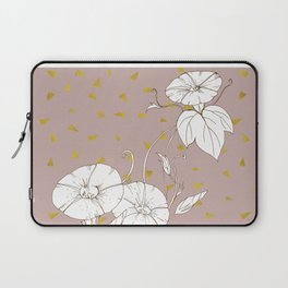 Morning Glory in Gold Laptop Sleeve