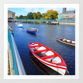 Boats on the River Art Print