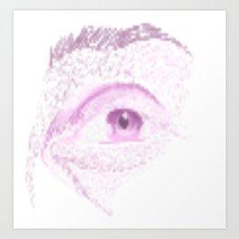 Male Abstract Eye Art Print