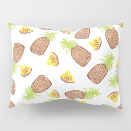 Hand Painted Watercolor Tropical Pineapples Pillow Sham