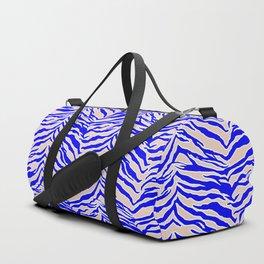 Tiger Print - Cobalt Blue Duffle Bag