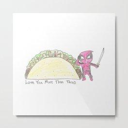 Merc Taco Sketch Metal Print