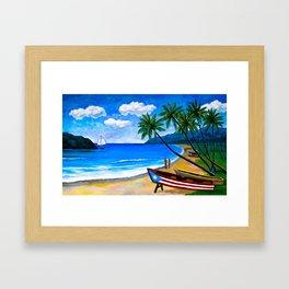 Paisaje Marino Framed Art Print