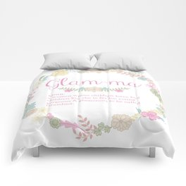 Glam-ma definition Art Comforters